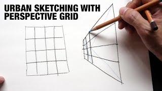 Urban Sketching with Pęrspective Grid's Help (Tutorial)