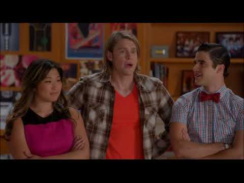 Glee - Sam, Blaine and Tina Talk About Wanting To Sing As A Trio 5x10