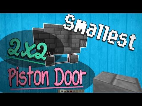 Minecraft 1.11 How to: Smallest 2x2 Door - Observer Blocks