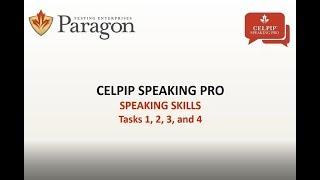 CELPIP Speaking Pro - Lesson 1 (Recording - March 2018)