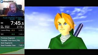 OoT Any% WR Speedrun in 7:45.515!