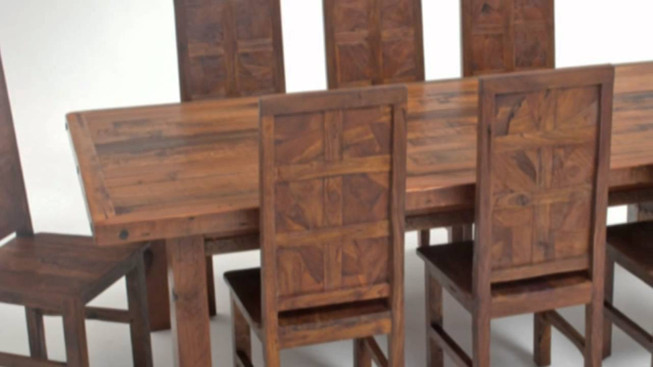 Custom Rustic Furniture Company, Natural Wood Table, Chairs   YouTube