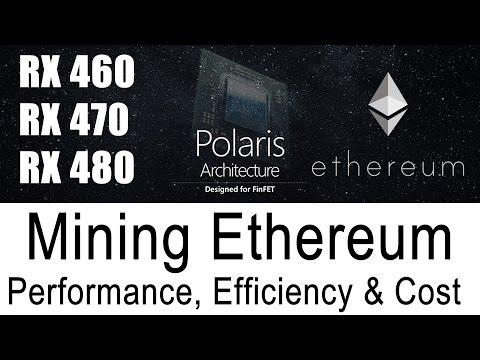 Best Ethereum GPU Mining Performance RX460 RX470 RX480