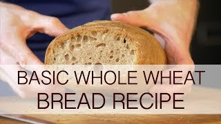 Basic whole wheat bread recipe