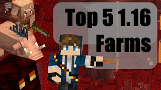 Top 5 Simple Minecraft Farms for the NETHER UPDATE! (1.16.3+ Tutorial)