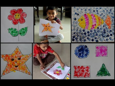 DIY - Lady finger (bhindi) printing | Easy summer craft ideas for kids | Painting with vegetables