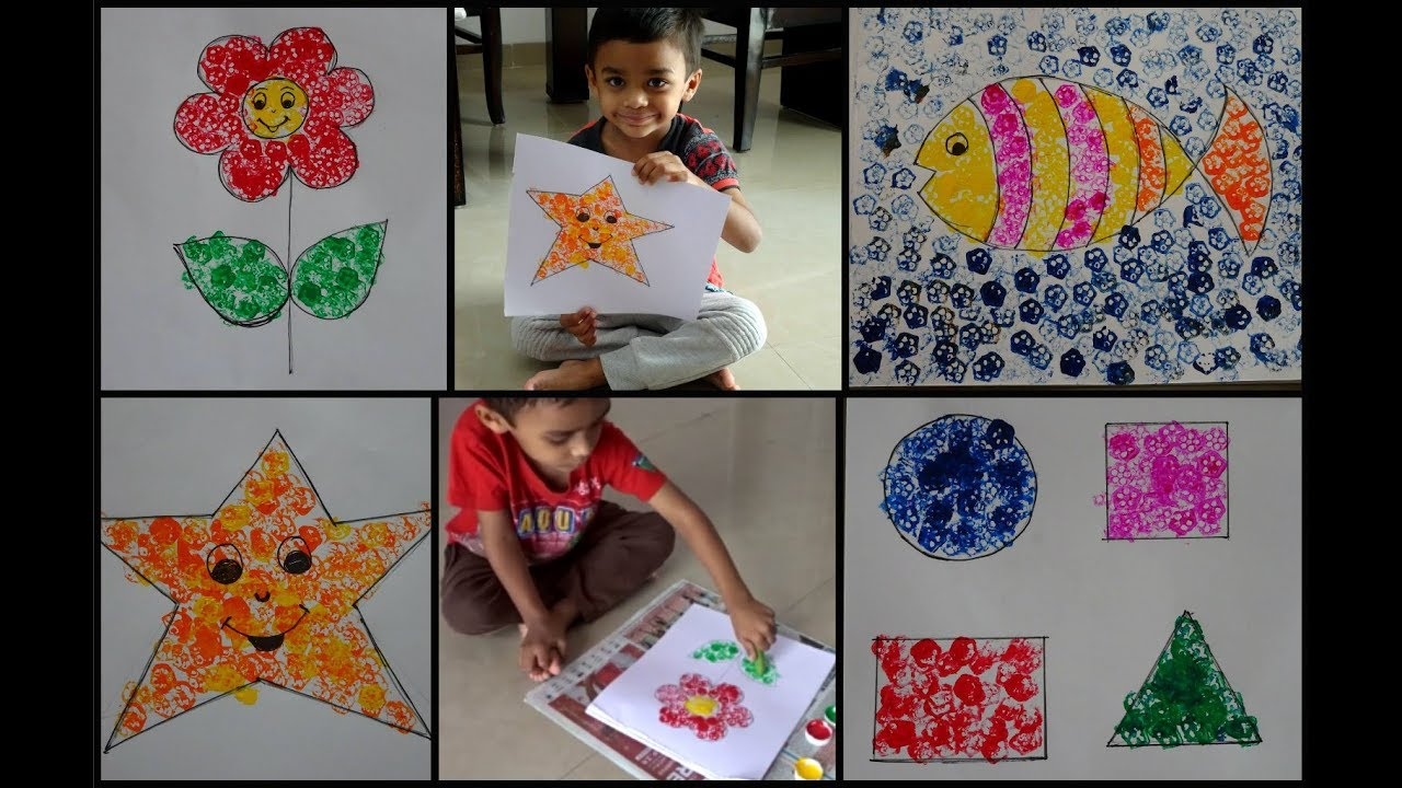 Diy Lady Finger Bhindi Printing Easy Summer Craft Ideas For
