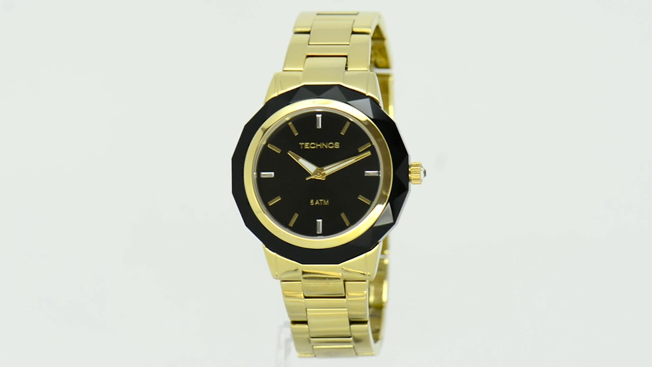 ab068bc19de Relógio Technos Feminino Elegance Crystal Swarovski 2035MCM 4P - Eclock