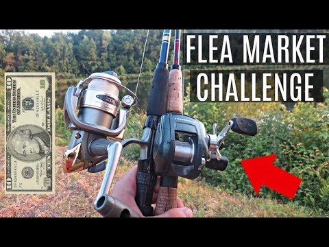 $10 Flea Market Fishing Challenge!! (Surprising!)