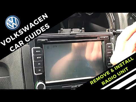 How To Remove And Install Volkswagen Radio ( Double Din ) - Simple & Easy