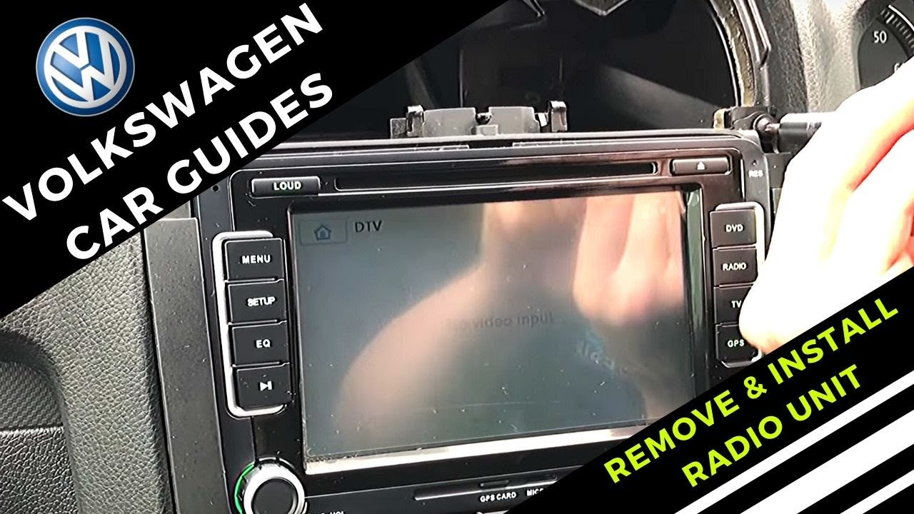 How To Remove And Install Volkswagen Radio   Double Din