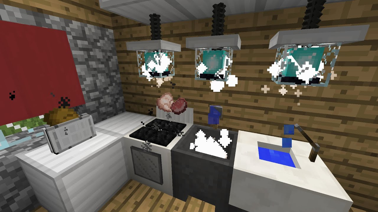 EL COME CREARE LA CUCINA PERFETTA IN MINECRAFT VANILLA Kitchen Furniture x2  YouTube