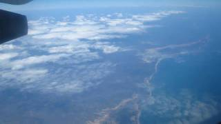 Flying over coast of Madagascar