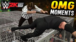 WWE 2K16 - HELL IN A CELL OMG MOMENTS!