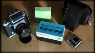 Pentacon Six TL - Medium format film SLR camera.