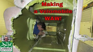 """The Making of a Velomobile"" Stephane Boving of Katanga Builds the WAW-Laidback Bike Report"