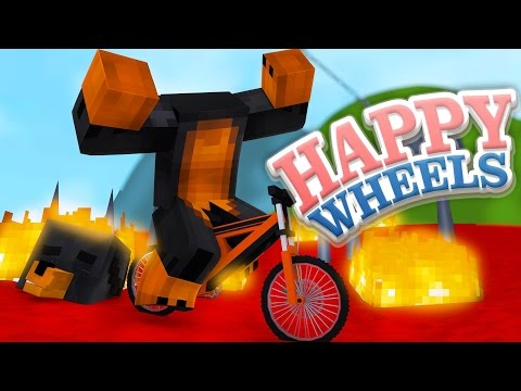 Minecraft HAPPY WHEELS - MY HEAD FALLS OFF - Donut the Dog Minecraft Gaming
