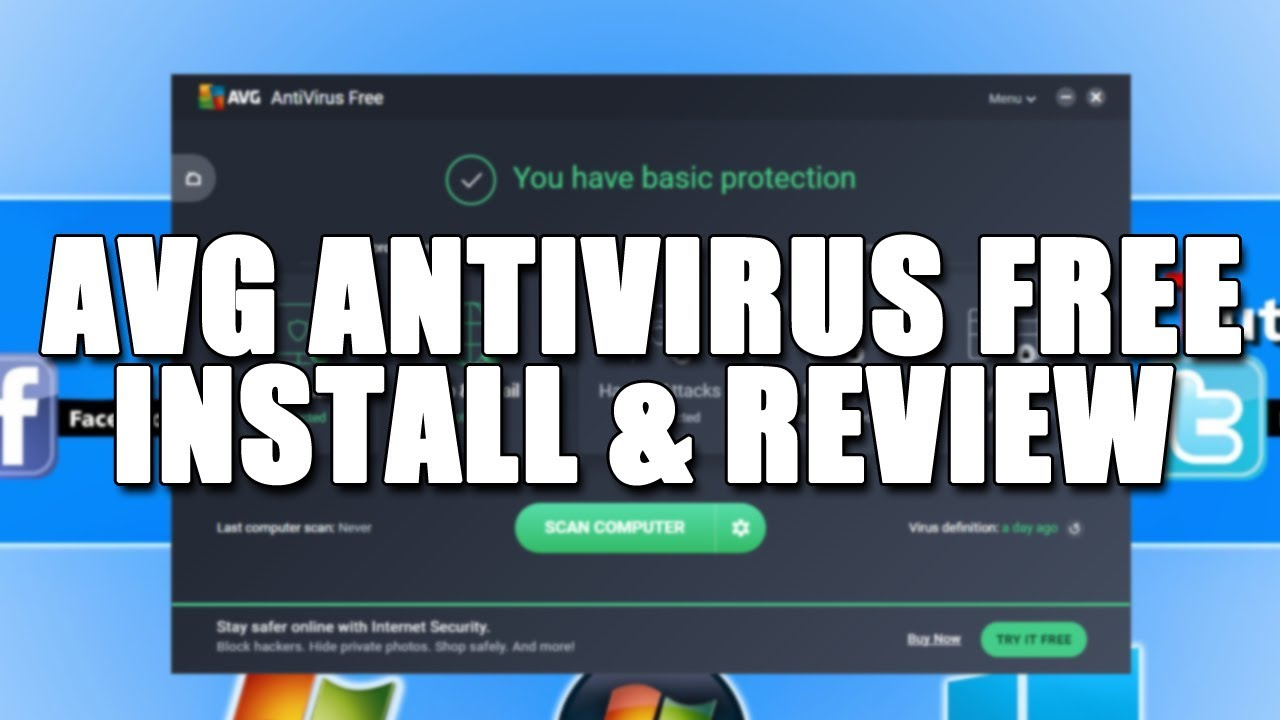 AVG Free AntiVirus 2017 Install & Review | Windows 10 FREE Antivirus Software