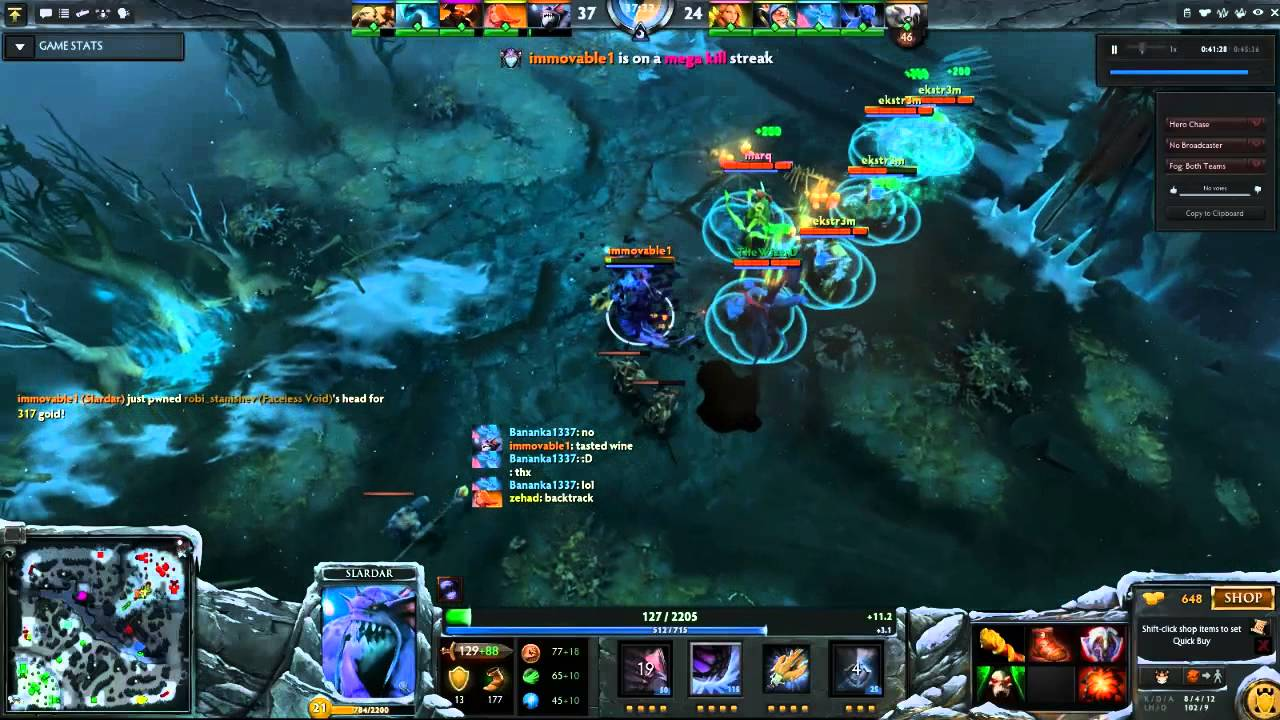dota 2 slardar fake immovable1 youtube