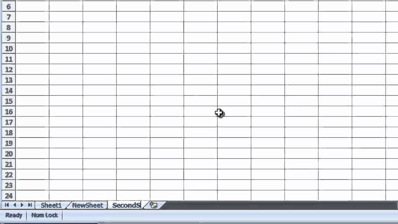 Excel 2007 Renaming A Worksheet Youtube