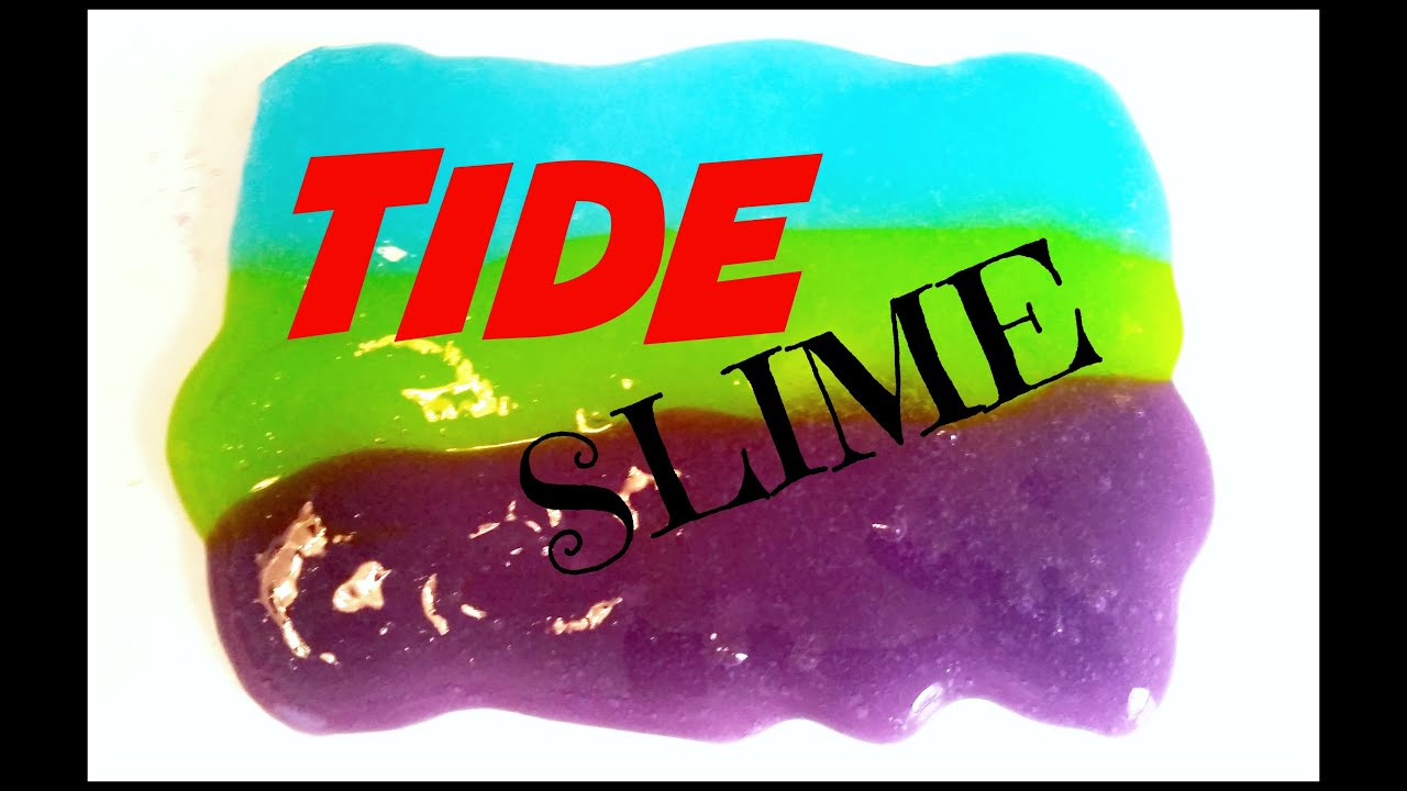 Diy Tide Slime Kids Crafts No Borax No Starch