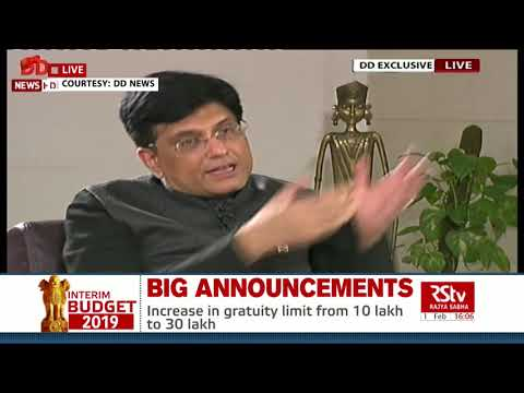 Finance Minister Piyush Goyal's Interview post Interim Budget 2019