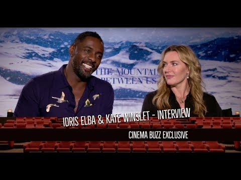 "Idris Elba and Kate Winslet talk about the challenges of shooting ""The Mountain Between Us"""