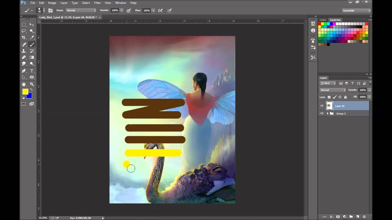 how to get rid of white background in photoshop cc