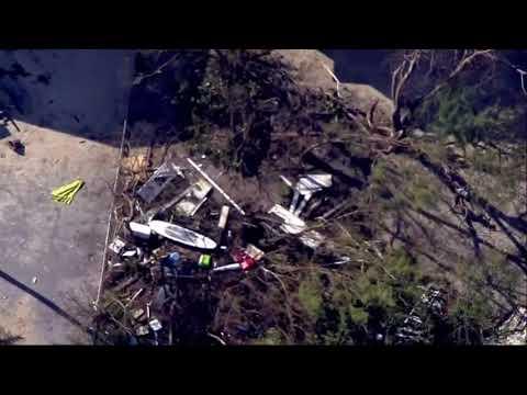 Aerial footage shows Key Largo damage from Irma