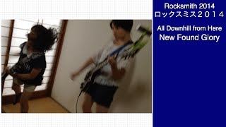 Here is Audrey (13) and Kate (8) playing Rocksmith - All Downhill f...