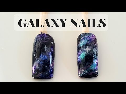 How to Galaxy Nails Gel Polish Tutorial