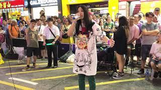 《野子》追尋夢想的路確是不容易走過*但我一定會努力*旺角街演珍藏片段(2018-08-26)中國香港歌手彭梓嘉