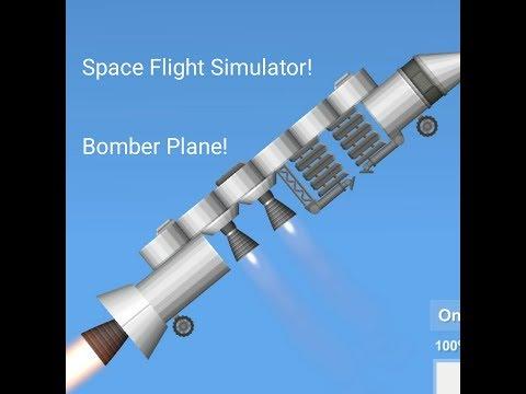 Space Flight Simulator Bomber Plane