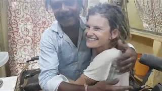 Cosmic Baba Head Massage to German Girl