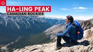 Hiking In Alberta - Ha Ling Peak in the Canadian Rockies - Canmore, Alberta