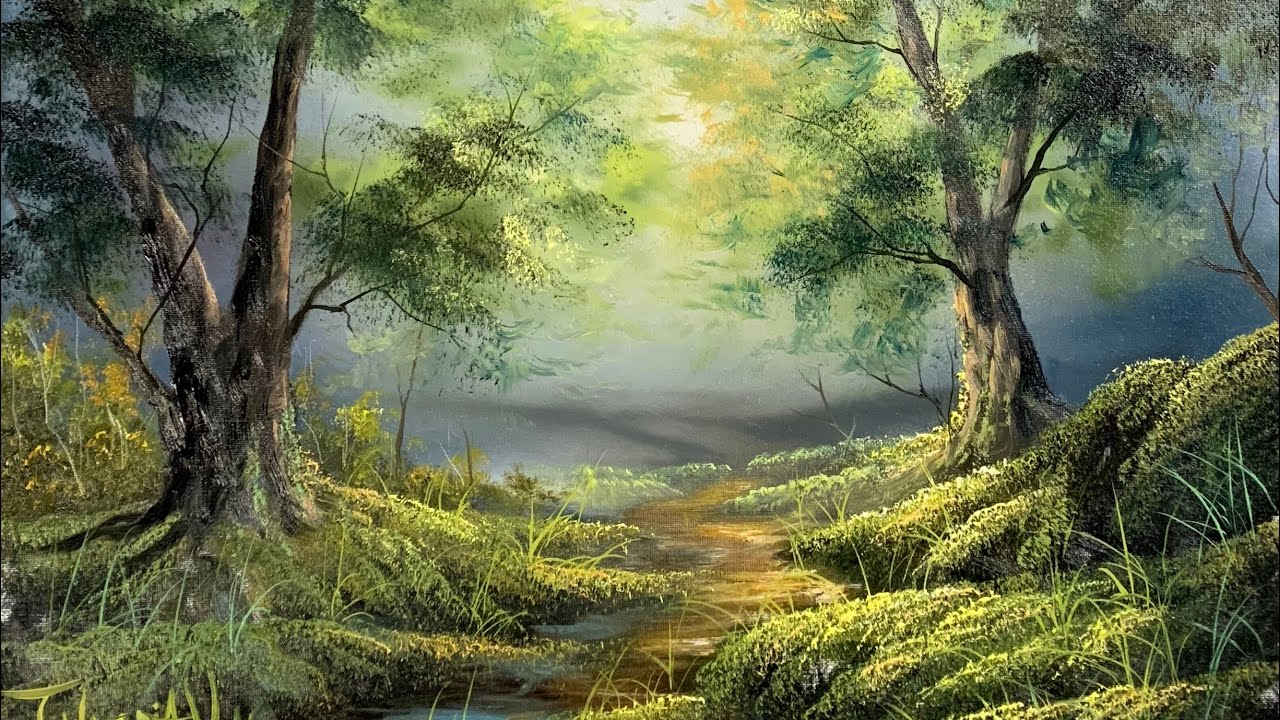 How To Paint A Forest In Oil - Paintings By Justin