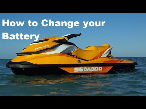 How To Remove Replace Change A SeaDoo GTI GTR Battery