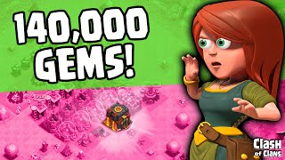 "Clash of Clans ""140,000 Gems"" MASSIVE Gemming ♦ Gemmed Noob Episode 3  ♦ CoC ♦"