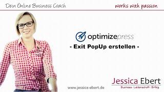 Optimizepress - Sinnvolles Exit PopUp erstellen - Deutsch