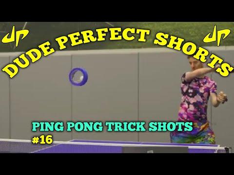 Ping Pong Trick Shots (Shorts) | Dude Perfect Shorts