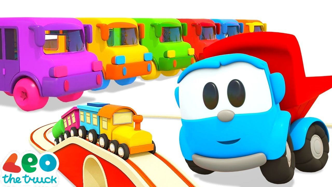 Car cartoons for kids & baby cartoon - Leo the truck & street vehicles songs for kids.