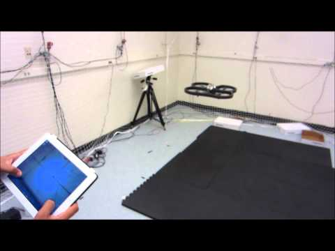 AR Parrot Drone MatLab Test in Optitrack Environment
