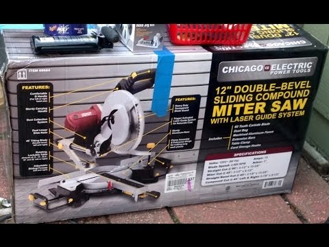 Harbor freight 12 double bevel sliding miter saw youtube greentooth Choice Image