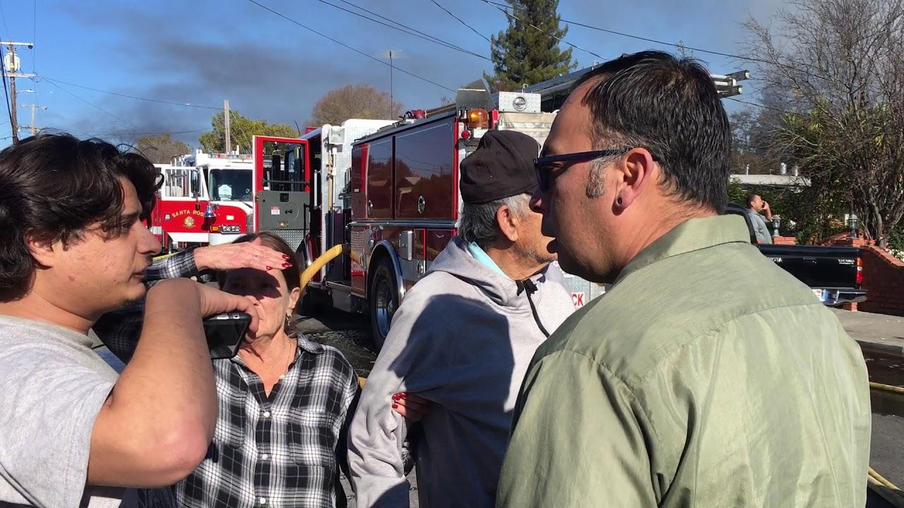 Fire at Santa Rosa home