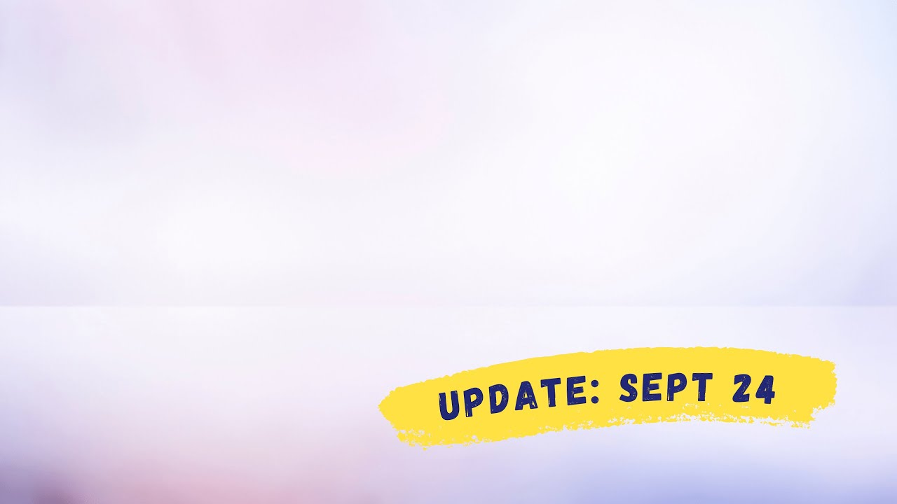 VPC Midweek Update: September 24, 2020