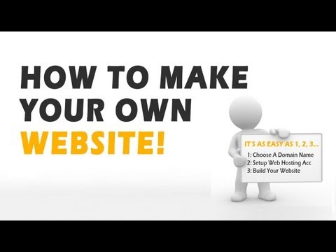 Easy Steps To Make Your Own Website Fast With Image