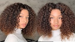 Protective style|The MOST NATURAL and Affordable Curly Lace Frontal Wig low to $65.67 ft.AsteriaHair
