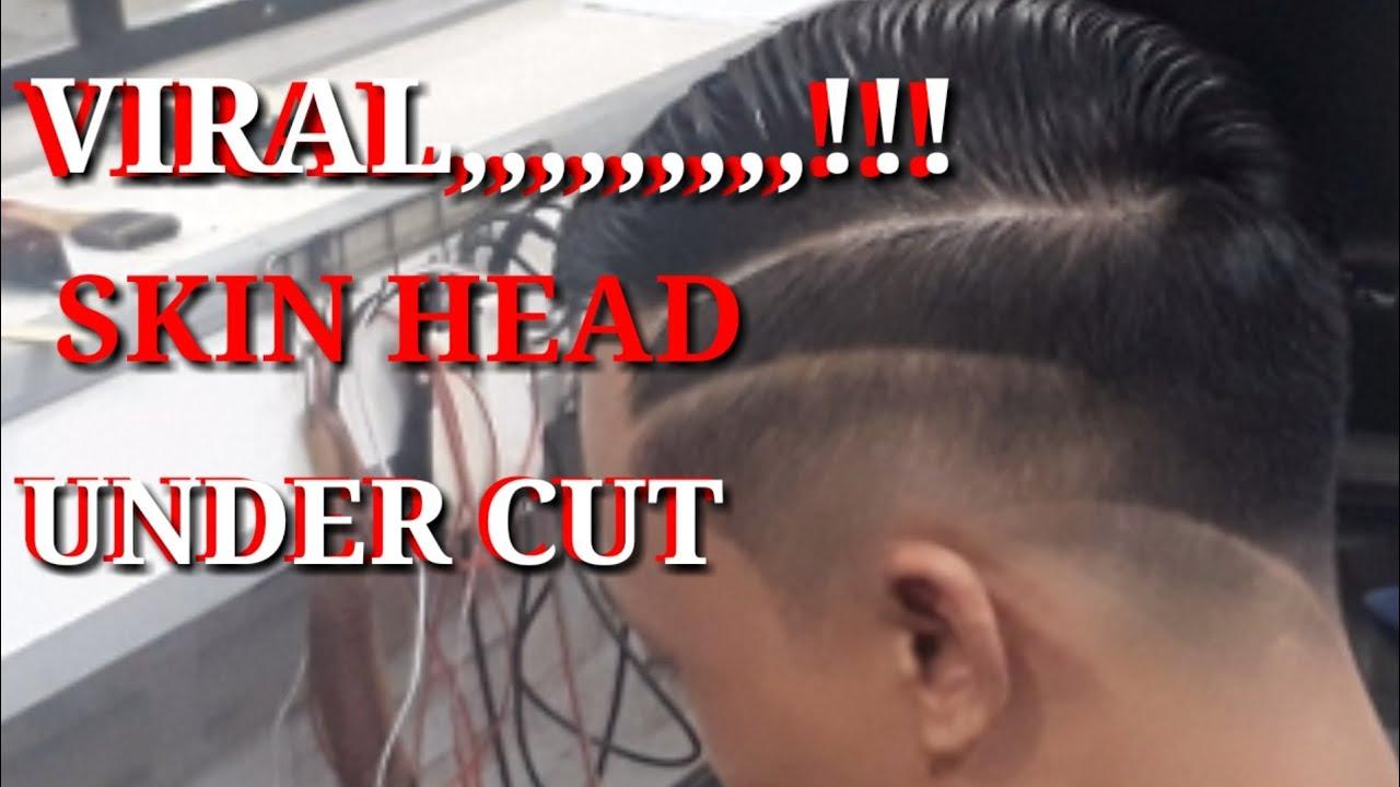 Fade skin head undercut/kursus potong rambut pria - YouTube