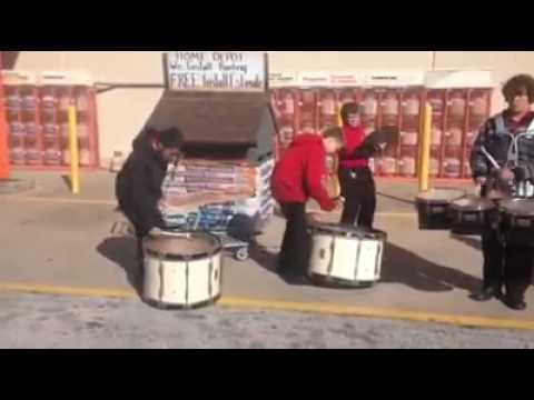 Mayport Middle School Drum line - Heck yea, these kids got skills