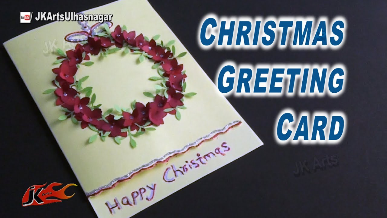 Art And Craft Ideas For Making Greeting Cards Part - 29: How To Make Easy Christmas Card | School Project For Kids | JK Arts 827